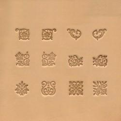 Matoir cuir 3D floral