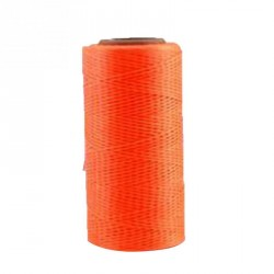 Bobine de fil ciré 260 m orange fluo