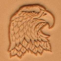 Matoir 3D cuir tête d'aigle