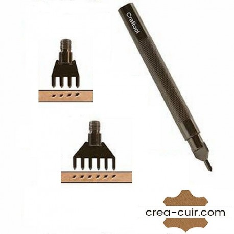Griffe couture 1/4/6 dents