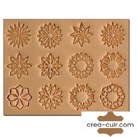 ensemble matoirs cuir 3D géométriques