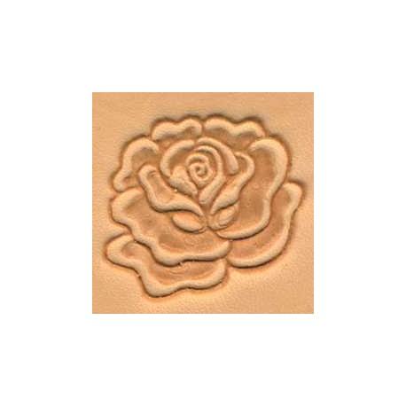 Matoir 3D cuir fleur rose