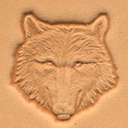 Matoir cuir 3D tête de loup