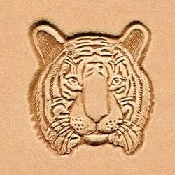 Matoir cuir 3D tête de tigre