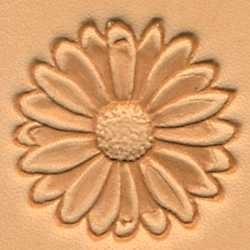 Matoir cuir 3D fleur tournesol