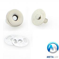 Fermoir magnétique 14 mm nickel