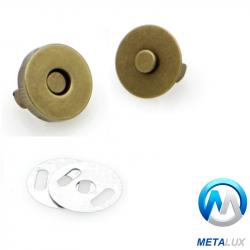 Fermoir magnétique 14 mm laiton antique