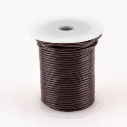 Lacet cuir rond 2 mm brun