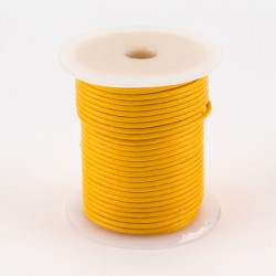 Lacet cuir buffle rond 2 mm jaune