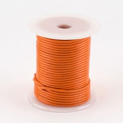 Lacet cuir buffle rond 2 mm couleur orange