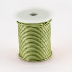 Lacet cuir buffle rond 2 mm couleur verte