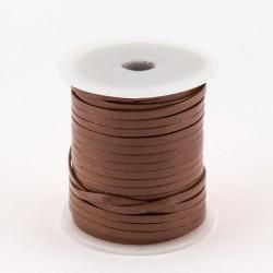 Lacet de cuir plat 3 mm marron clair