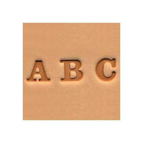 Matoirs cuir lettres alphabet 6 mm