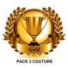 Pack 3 couture cuir